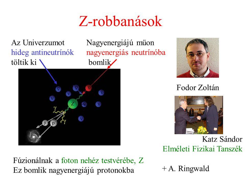Z-robbanások Az Univerzumot hideg antineutrínók töltik ki