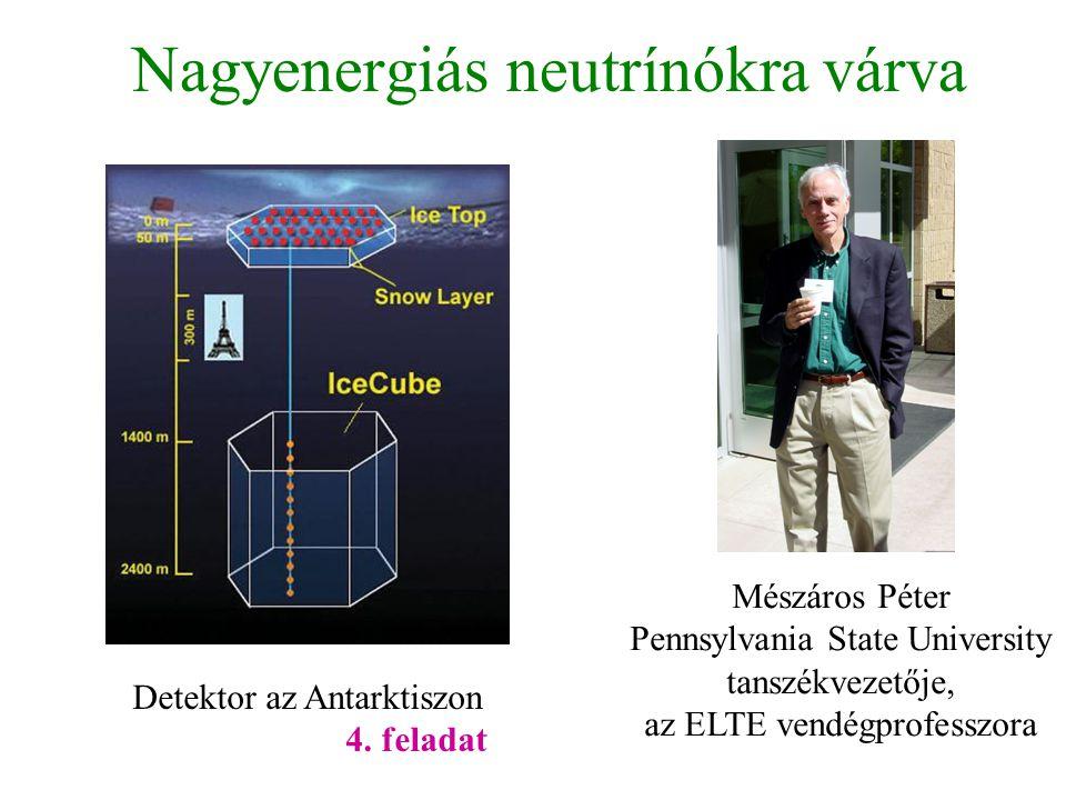 Nagyenergiás neutrínókra várva