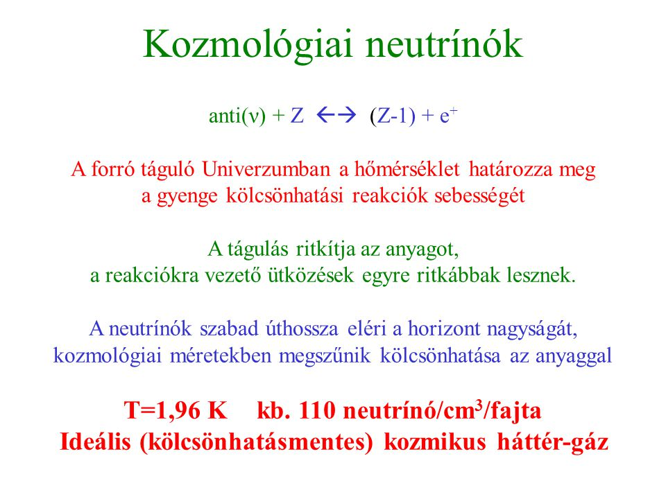 Kozmológiai neutrínók