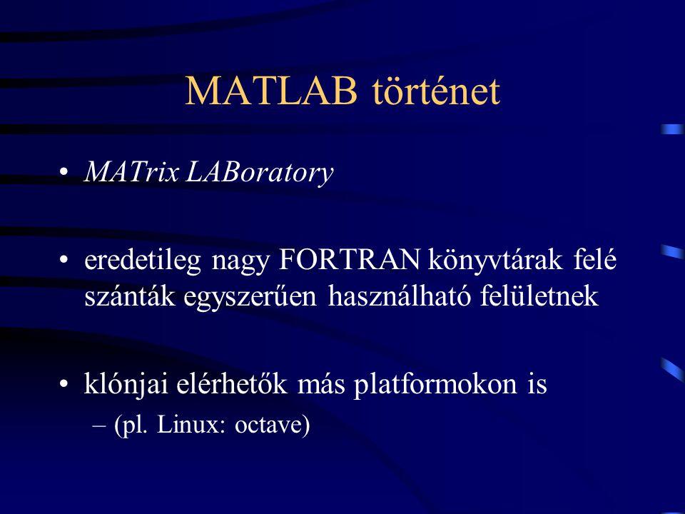 MATLAB történet MATrix LABoratory