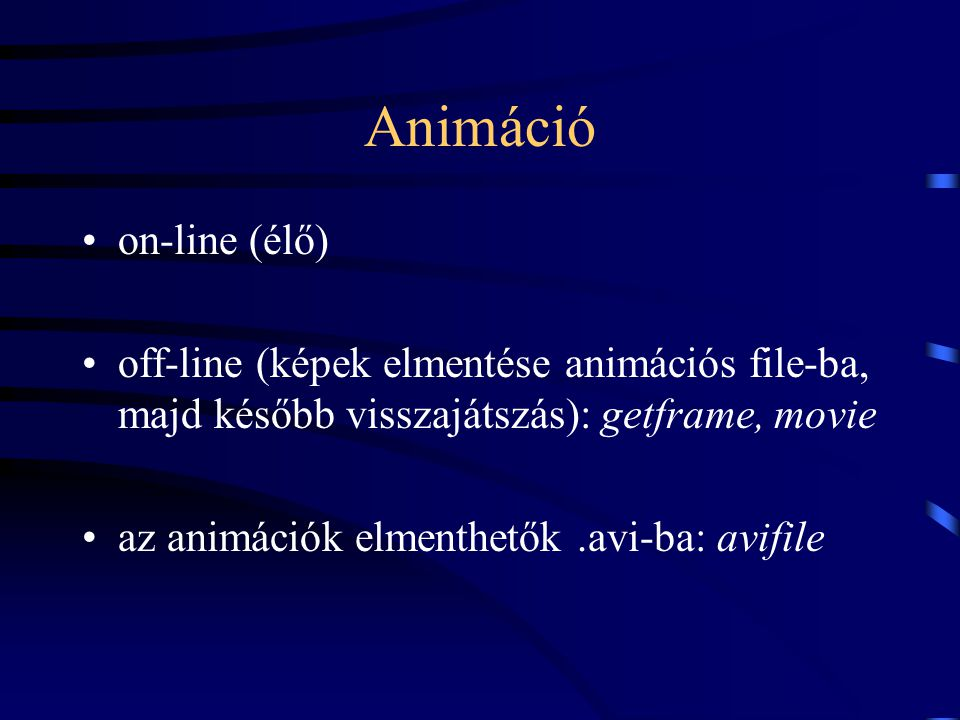 Animáció on-line (élő)
