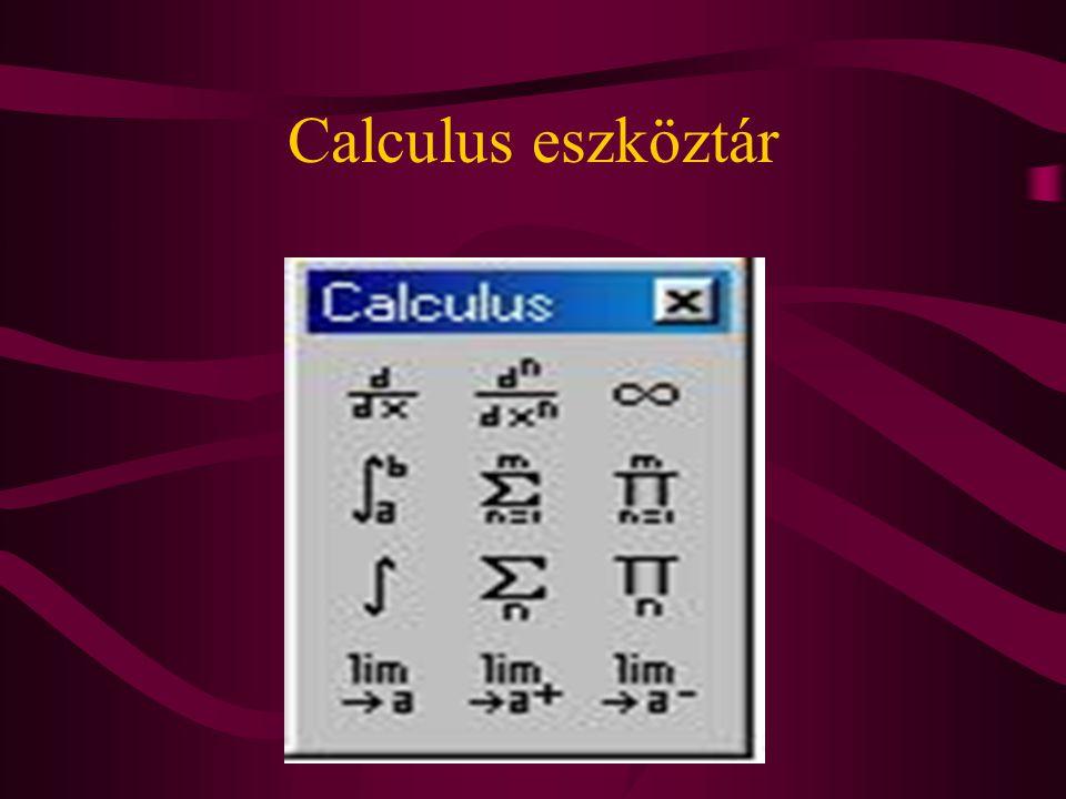Calculus eszköztár