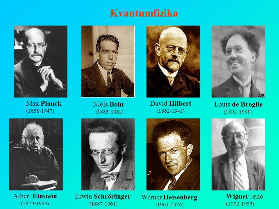 Kvantumfizika Louis de Broglie Max Planck Niels Bohr David Hilbert