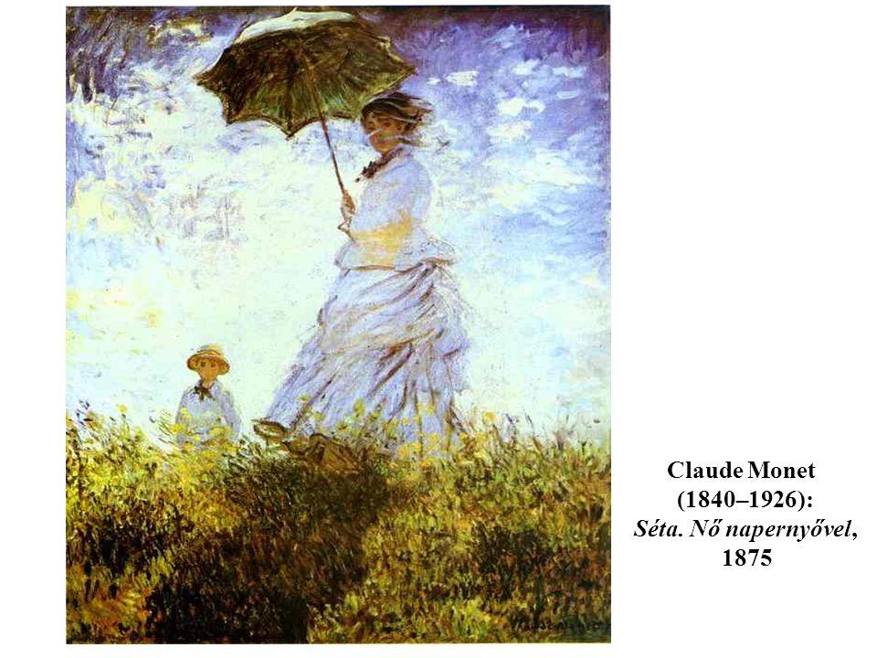 Claude Monet (1840–1926): Séta. Nő napernyővel, 1875