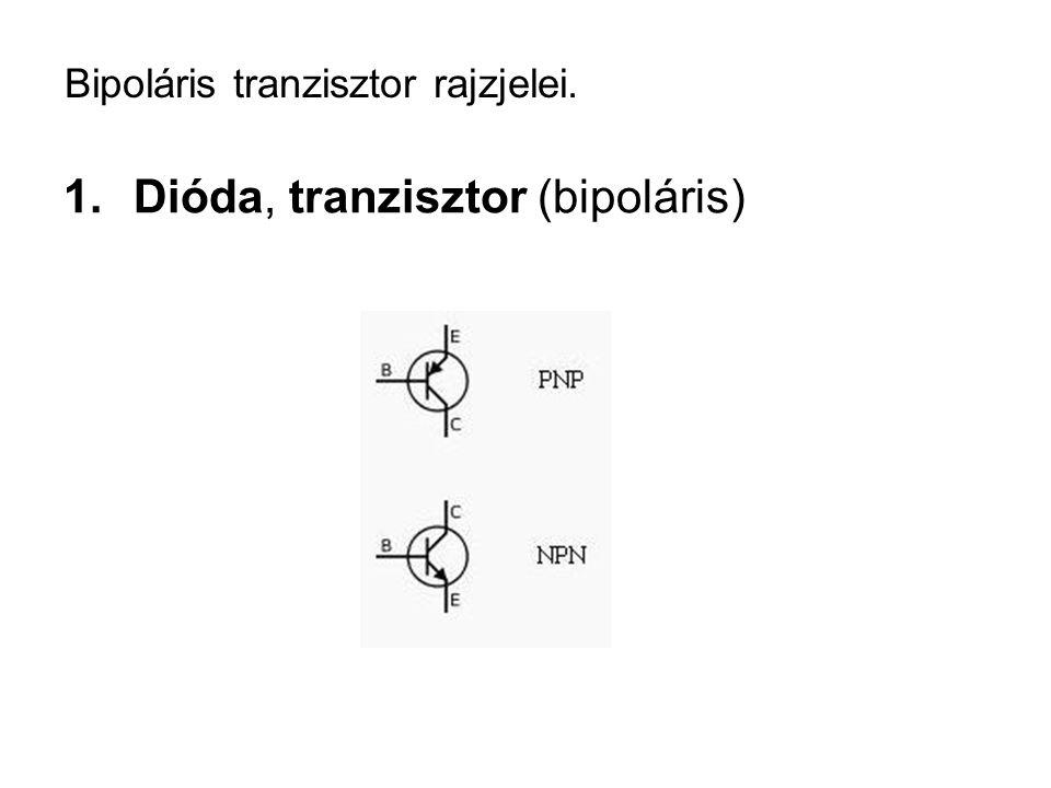 Bipoláris tranzisztor rajzjelei.