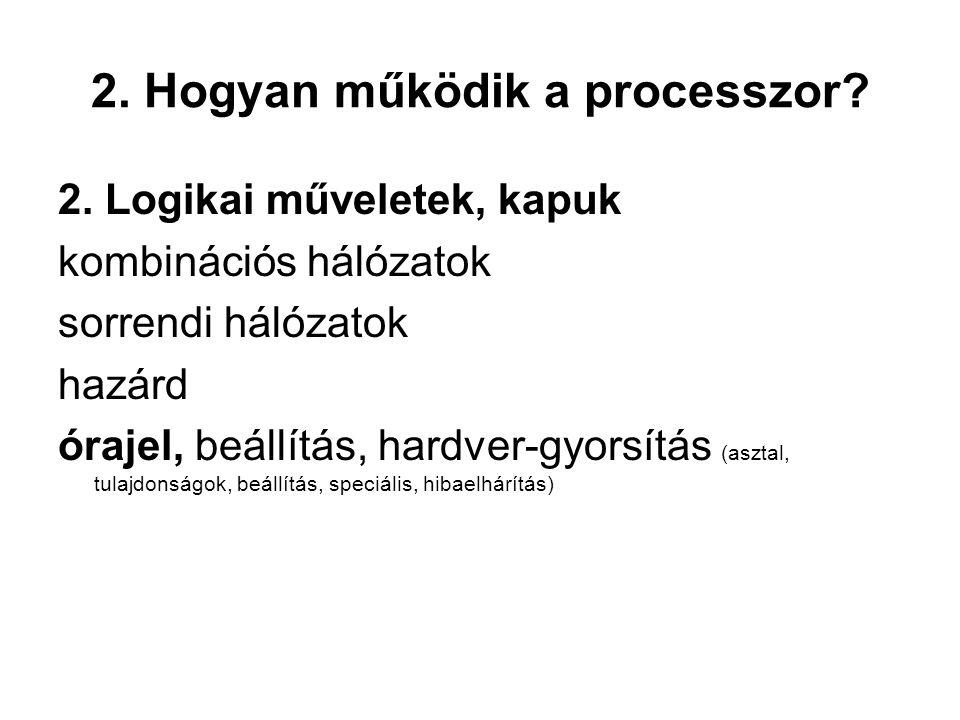 2. Hogyan működik a processzor