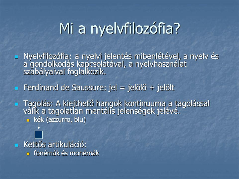 Mi a nyelvfilozófia