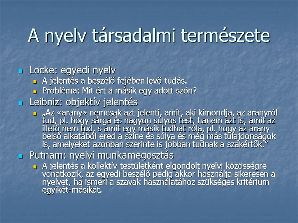 A nyelv társadalmi természete