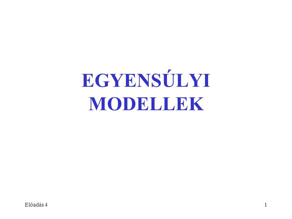 EGYENSÚLYI MODELLEK Előadás 4