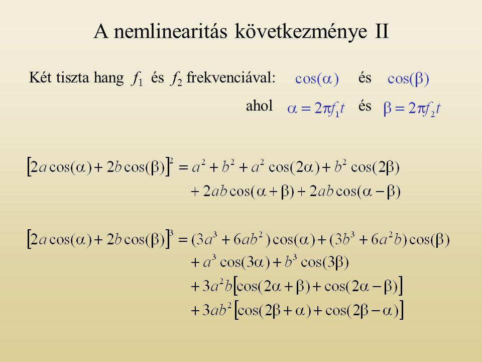 A nemlinearitás következménye II