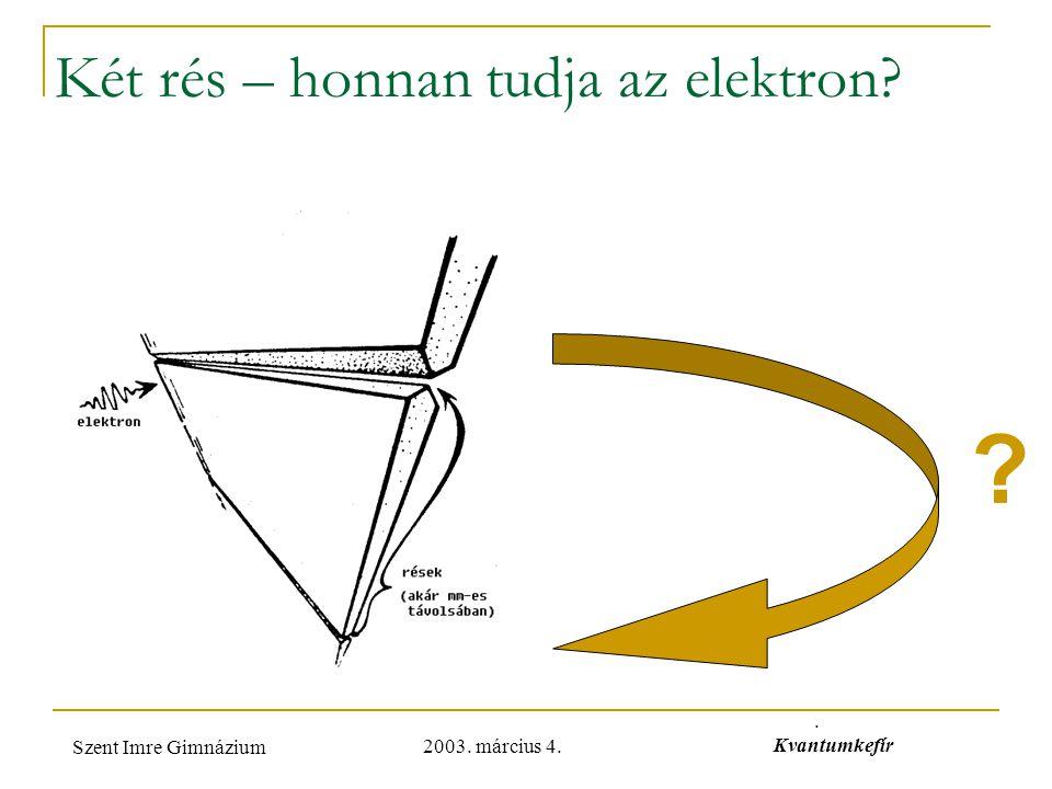 Két rés – honnan tudja az elektron