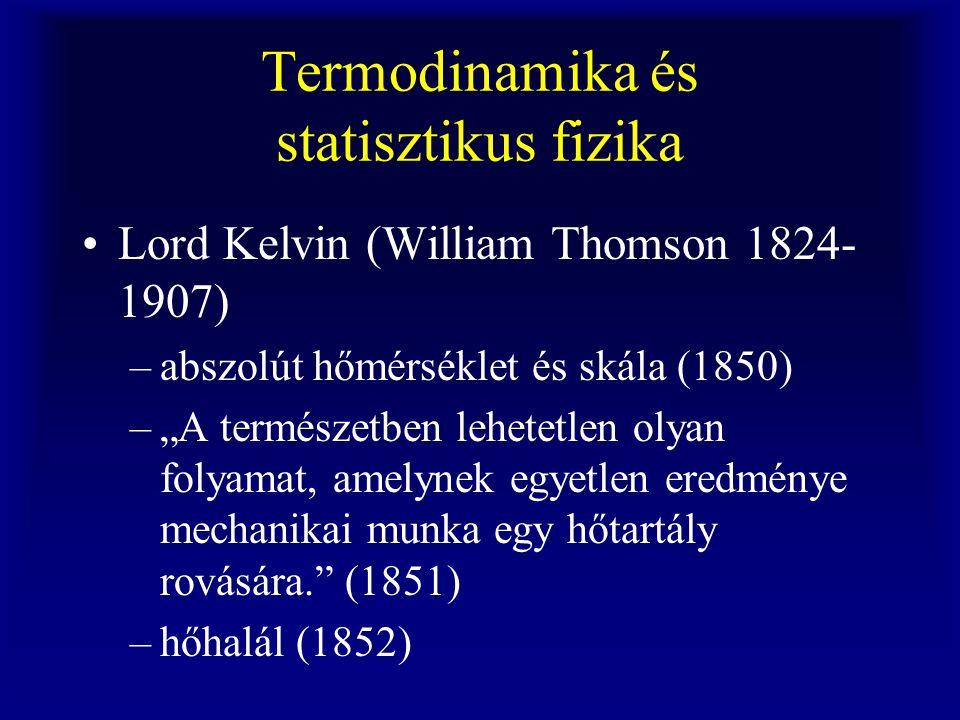 Termodinamika és statisztikus fizika