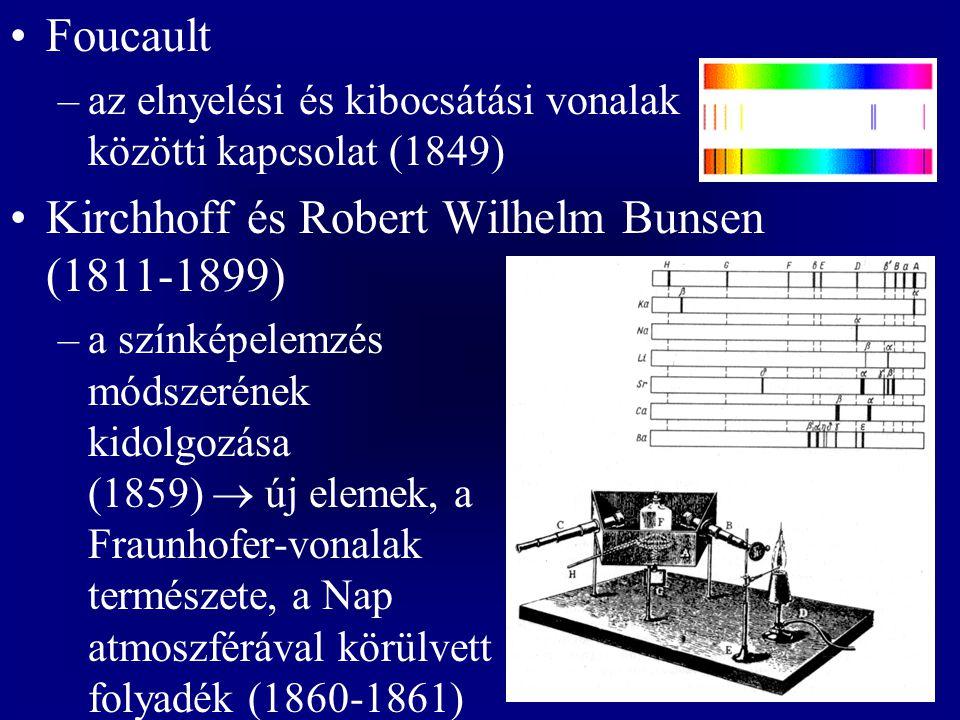 Kirchhoff és Robert Wilhelm Bunsen (1811-1899)