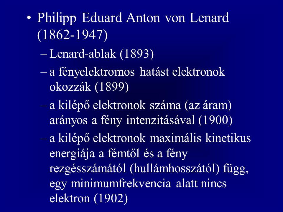 Philipp Eduard Anton von Lenard (1862-1947)