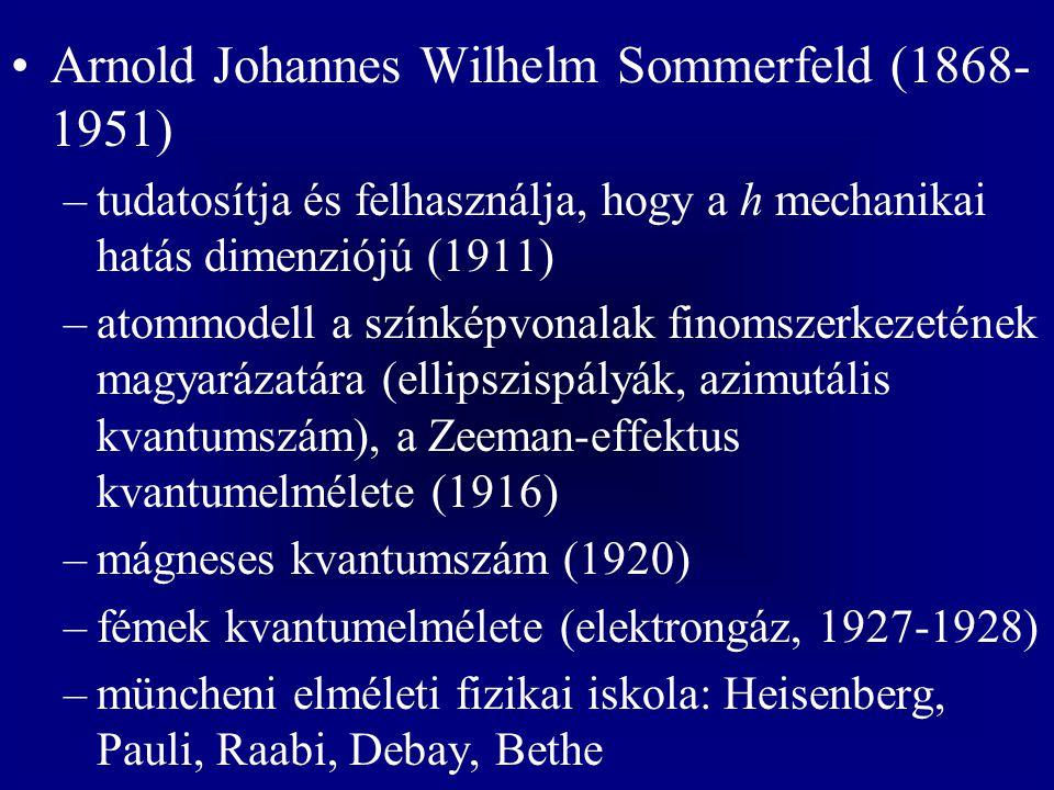 Arnold Johannes Wilhelm Sommerfeld (1868-1951)