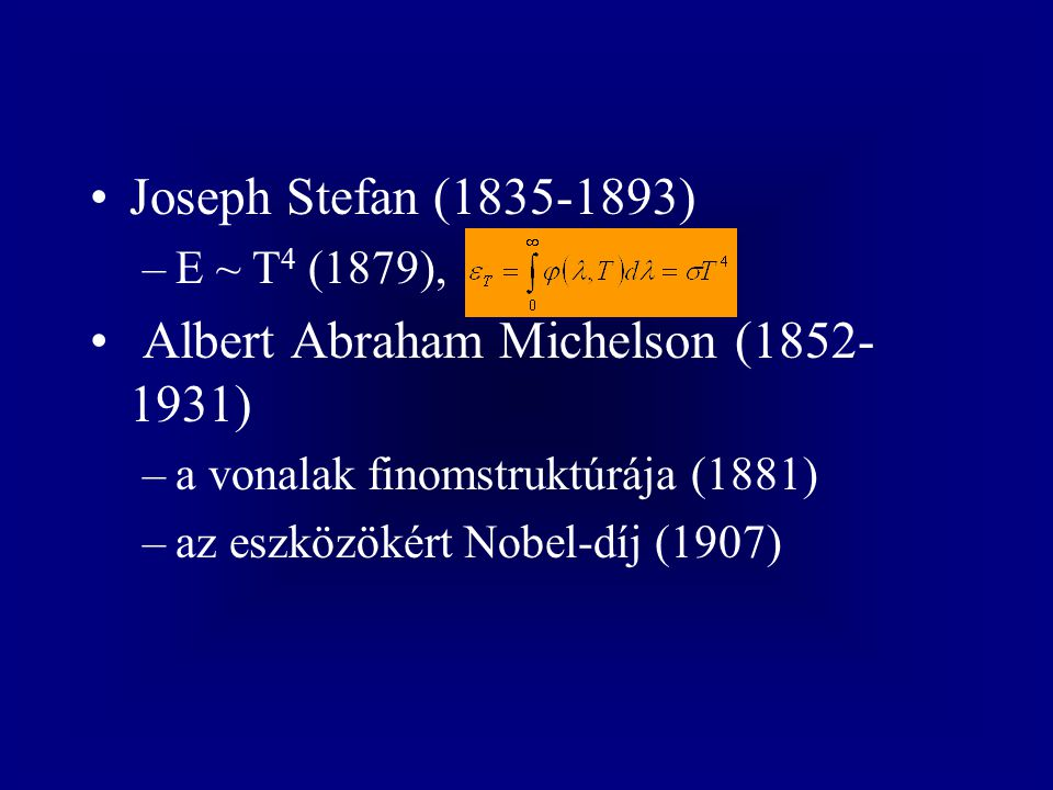 Albert Abraham Michelson (1852-1931)
