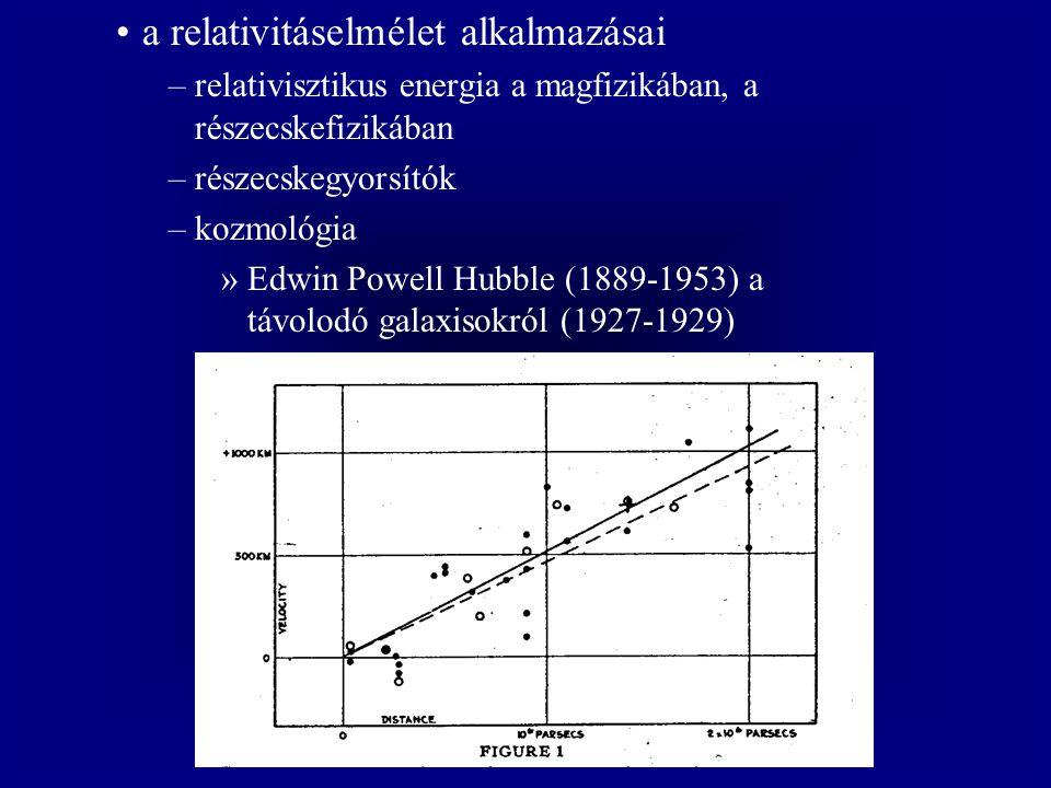 a relativitáselmélet alkalmazásai