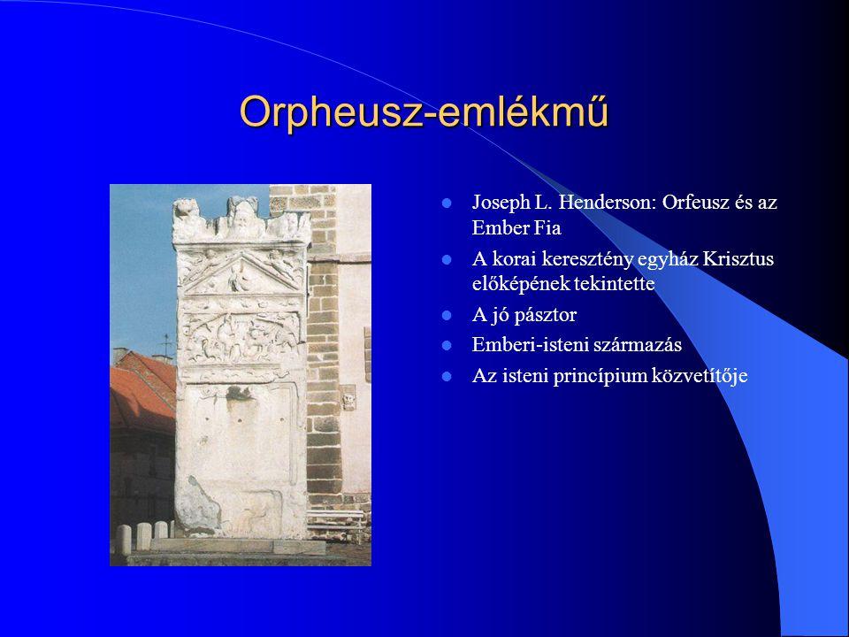 Orpheusz-emlékmű Joseph L. Henderson: Orfeusz és az Ember Fia