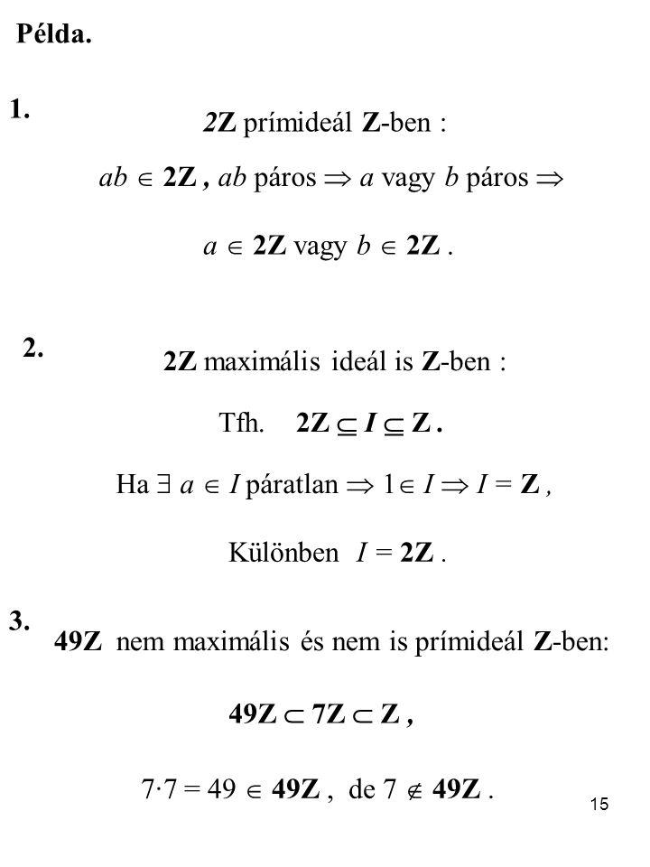 ab  2Z , ab páros  a vagy b páros 