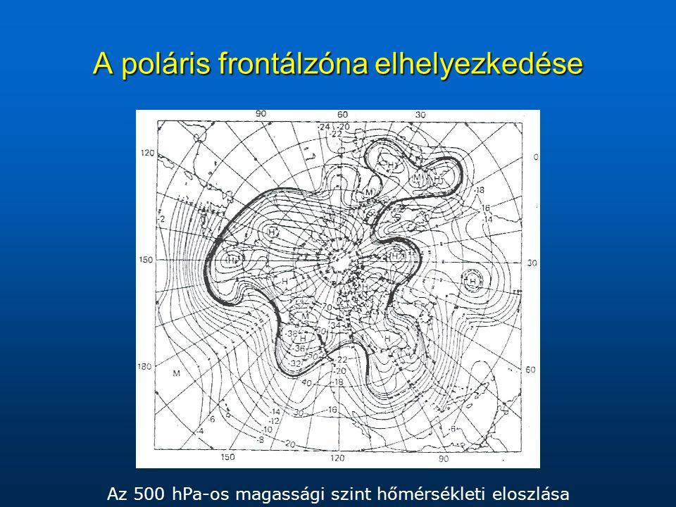 A poláris frontálzóna elhelyezkedése