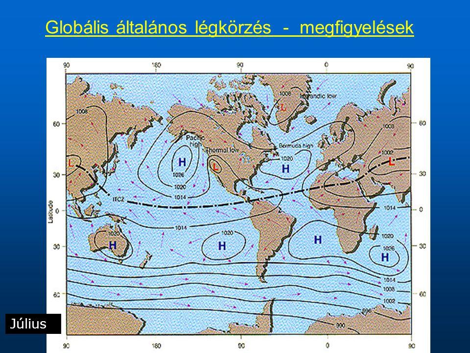 Globális általános légkörzés - megfigyelések