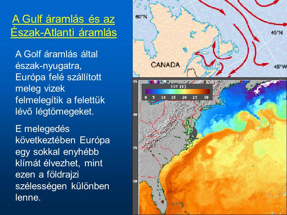 A Gulf áramlás és az Észak-Atlanti áramlás