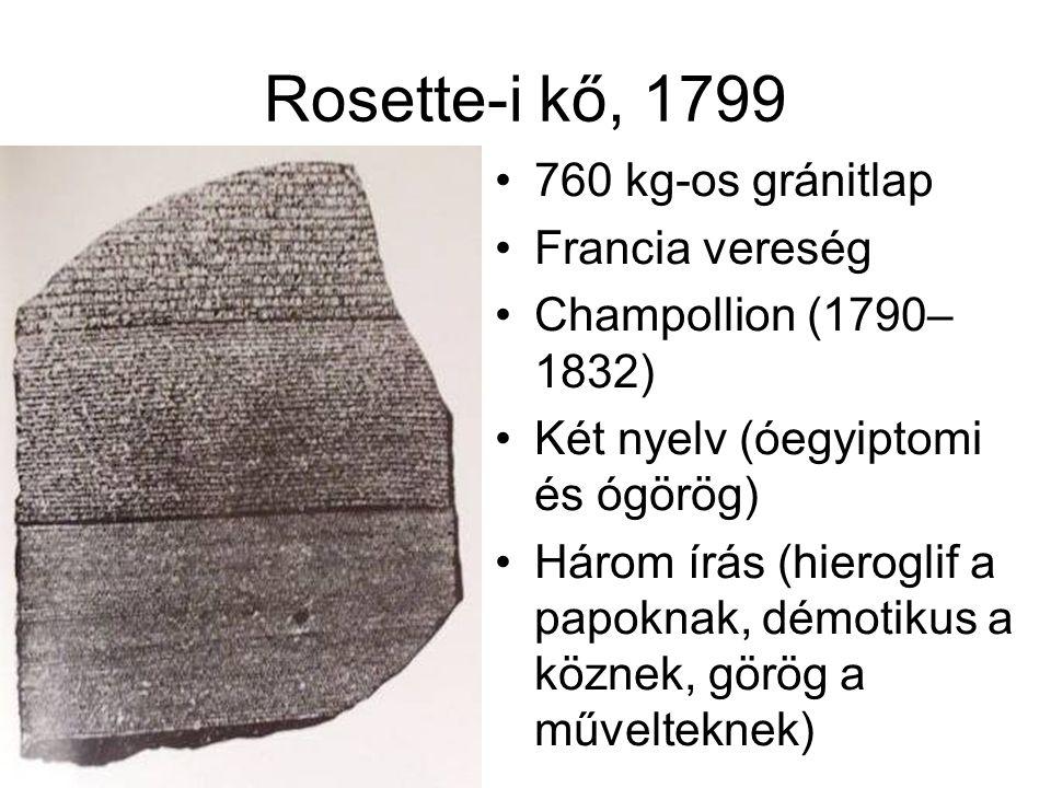 Rosette-i kő, 1799 760 kg-os gránitlap Francia vereség
