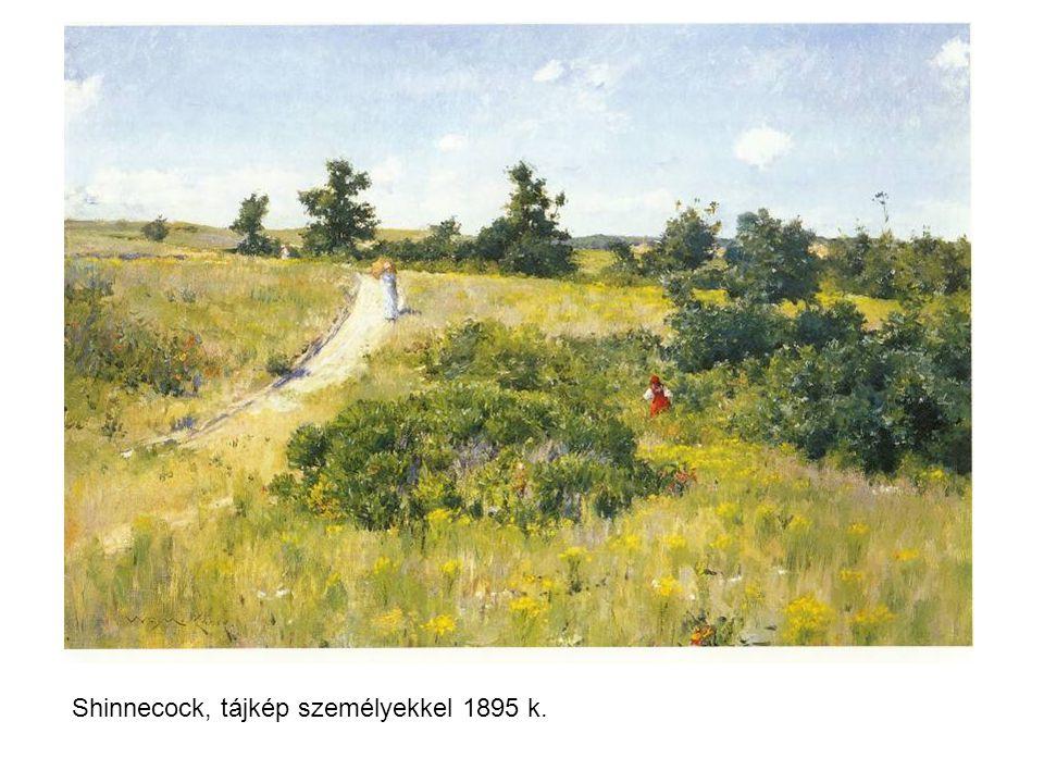 Shinnecock, tájkép személyekkel 1895 k.