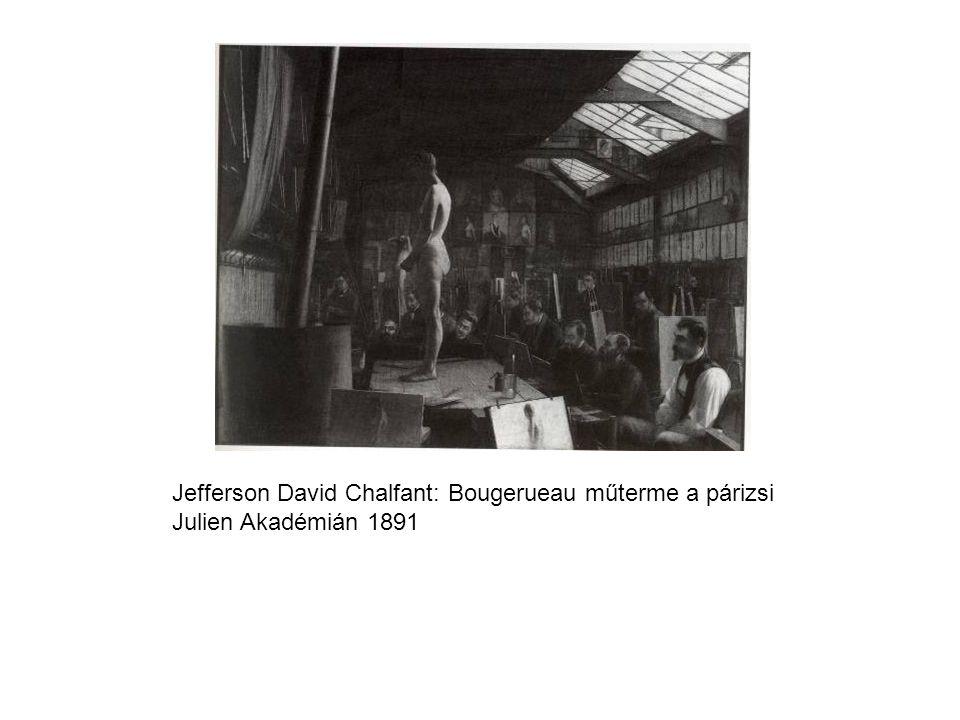 Jefferson David Chalfant: Bougerueau műterme a párizsi Julien Akadémián 1891