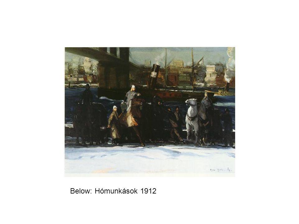 Below: Hómunkások 1912