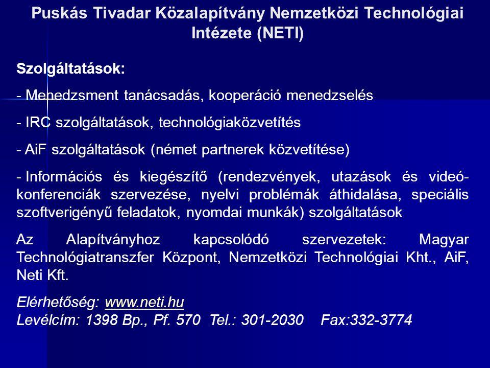 Puskás Tivadar Közalapítvány Nemzetközi Technológiai Intézete (NETI)