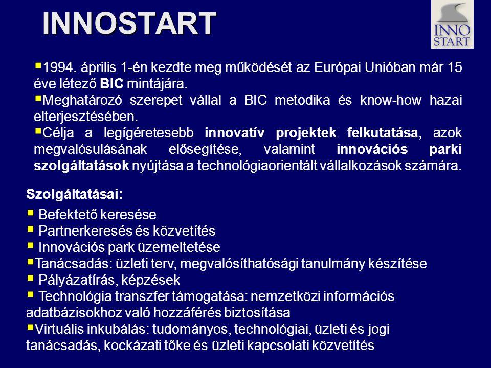 INNOSTART 1994. április 1-én kezdte meg működését az Európai Unióban már 15 éve létező BIC mintájára.