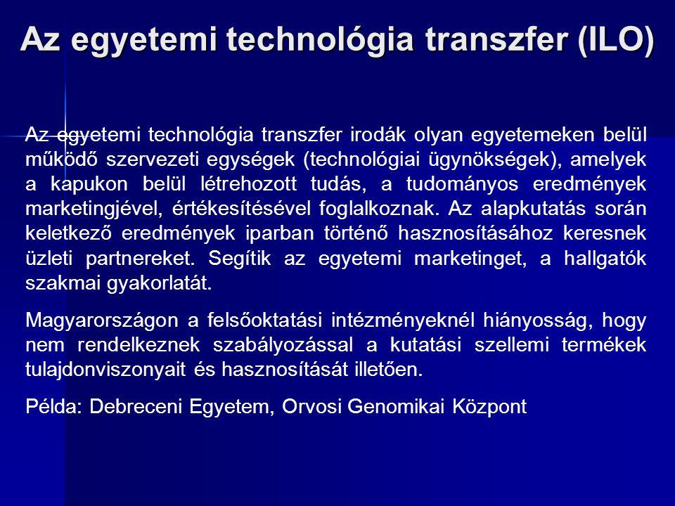 Az egyetemi technológia transzfer (ILO)