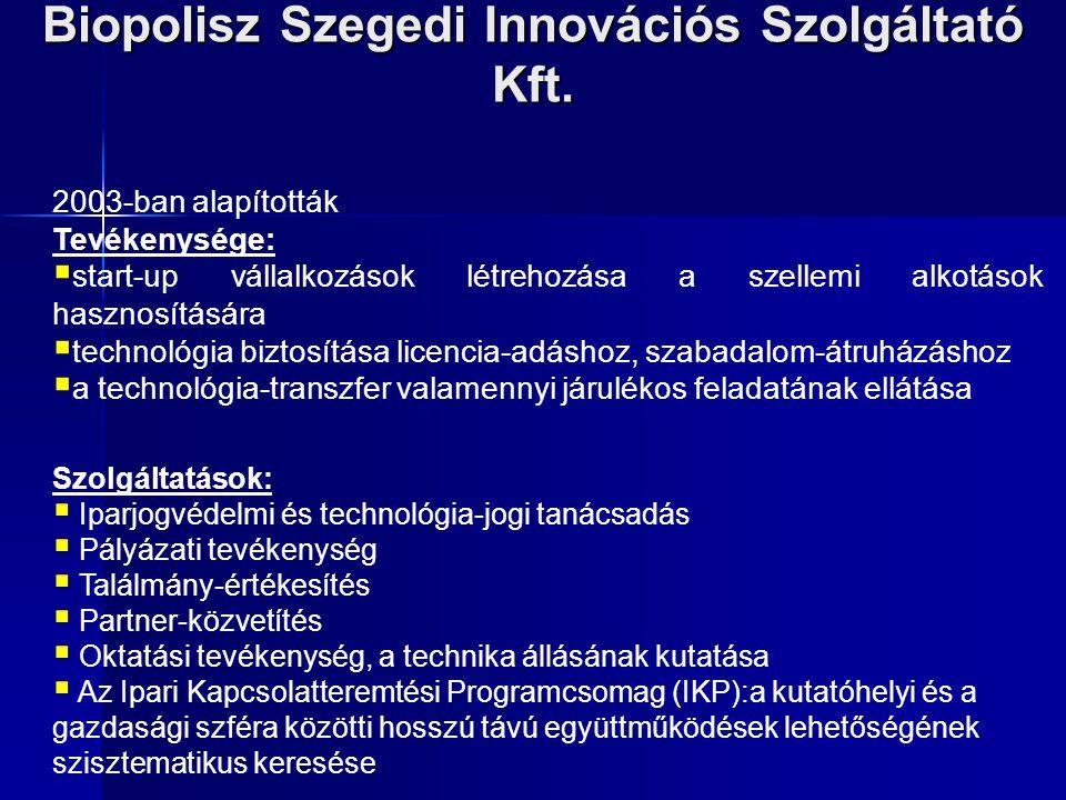 Biopolisz Szegedi Innovációs Szolgáltató Kft.