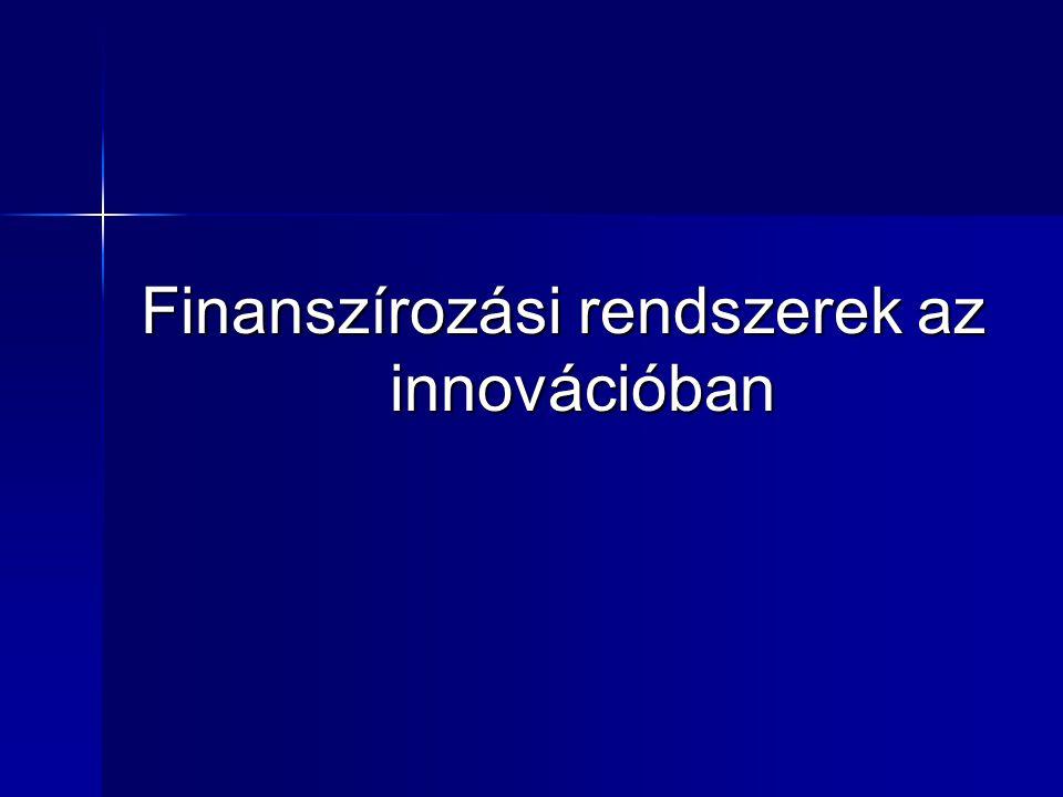 Finanszírozási rendszerek az innovációban