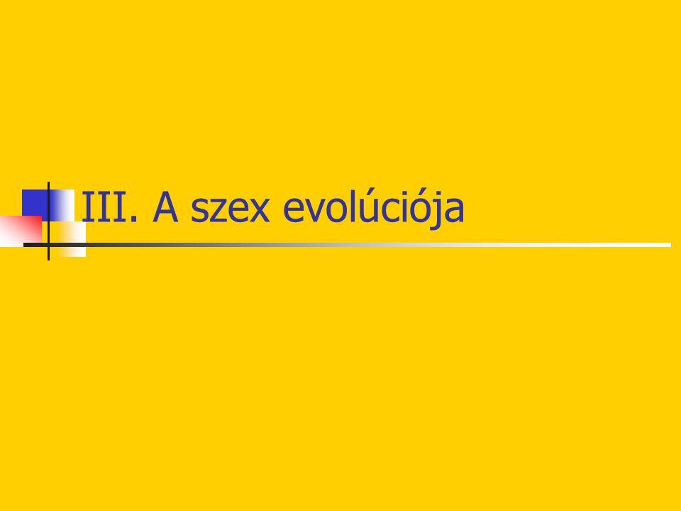 III. A szex evolúciója