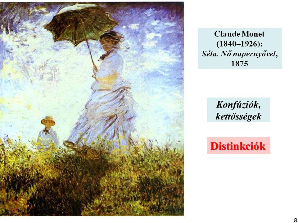 Distinkciók Konfúziók, kettősségek Claude Monet (1840–1926):