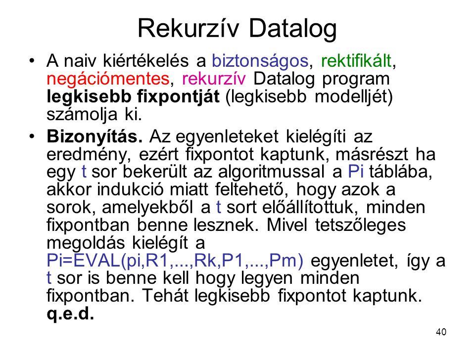 Rekurzív Datalog