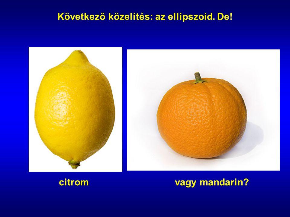 Következő közelítés: az ellipszoid. De!