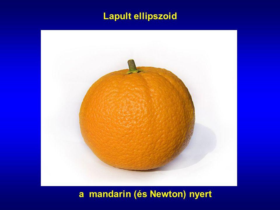 Lapult ellipszoid a mandarin (és Newton) nyert