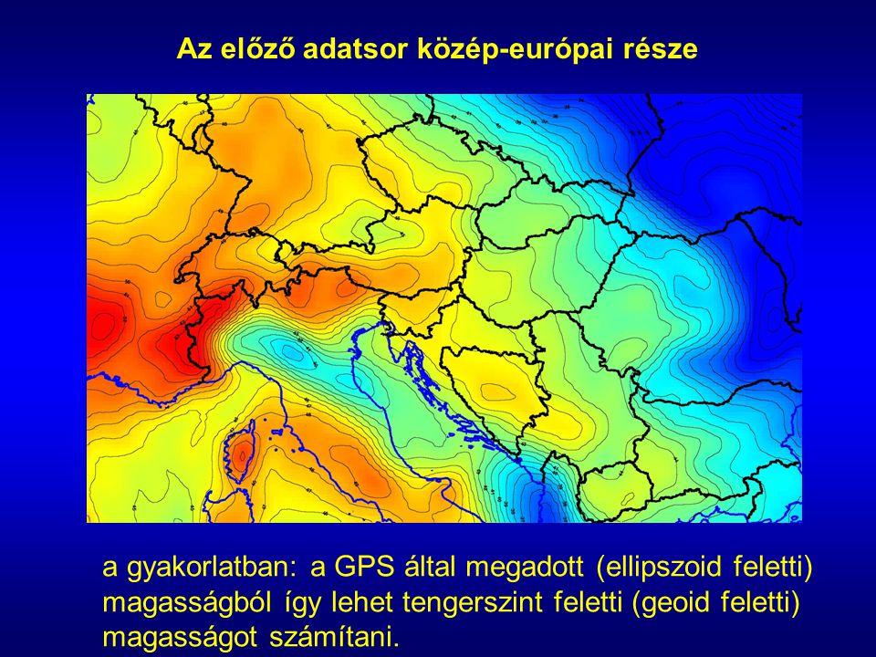 Az előző adatsor közép-európai része