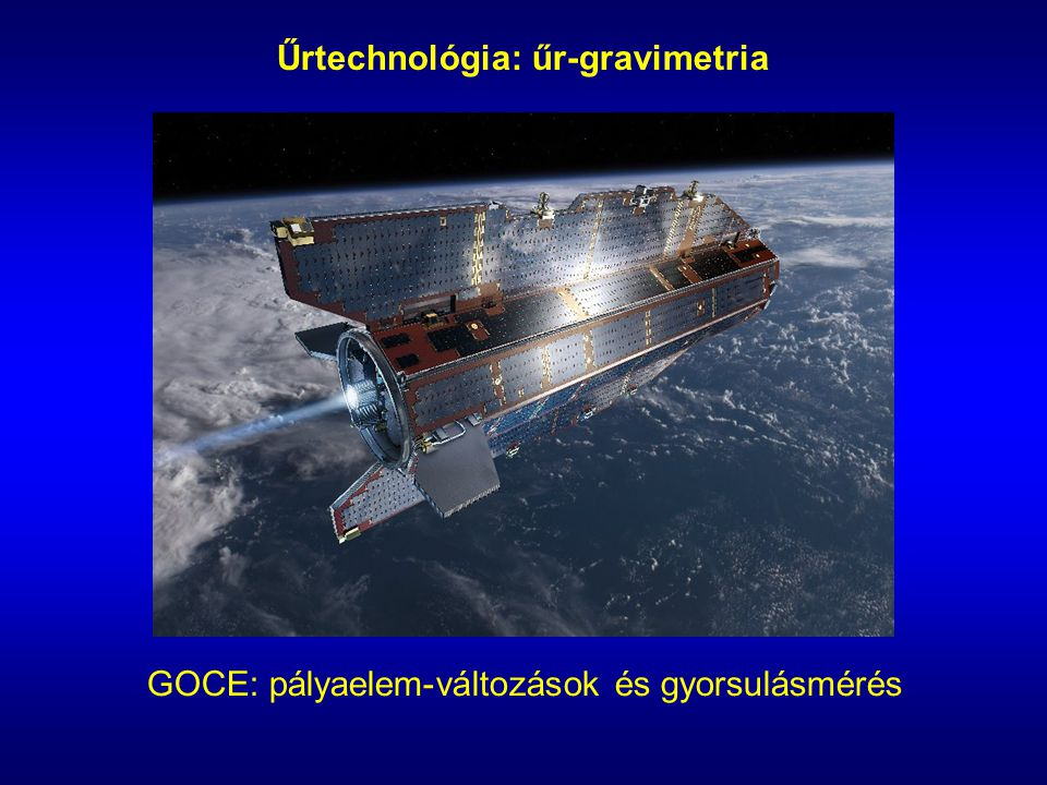 Űrtechnológia: űr-gravimetria