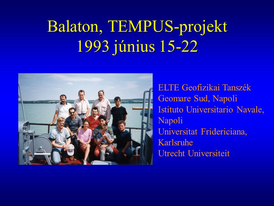 Balaton, TEMPUS-projekt 1993 június 15-22