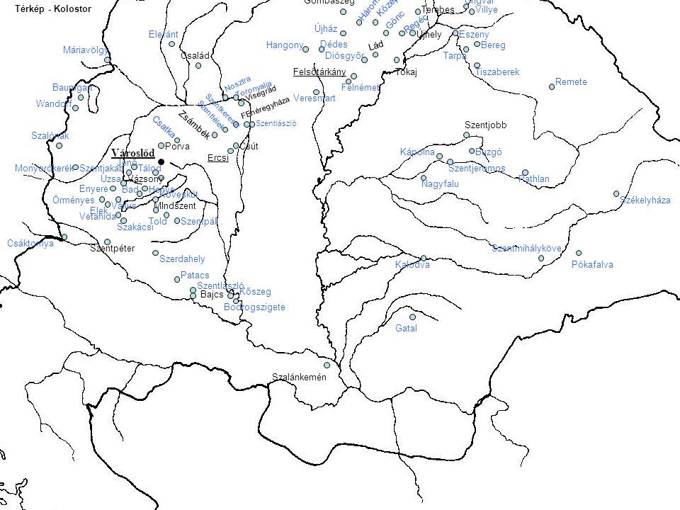 Városlőd Dunajec Menedékkő Háromhegy Középnémeti Gombaszeg Ungvár