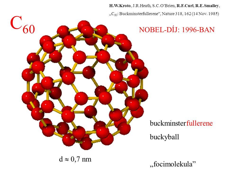 """C60 NOBEL-DÍJ: 1996-BAN buckminsterfullerene buckyball """"focimolekula"""