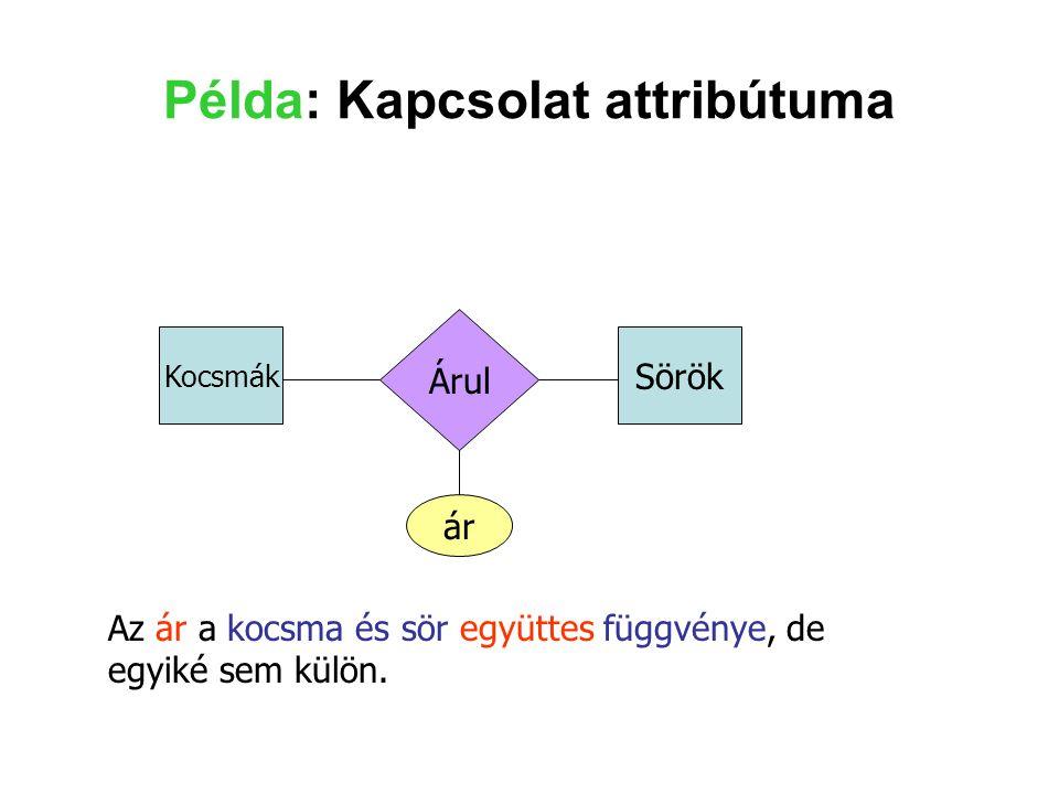 Példa: Kapcsolat attribútuma