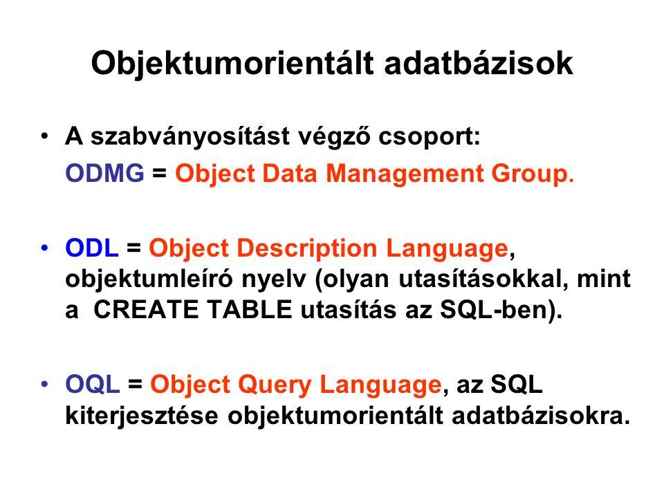 Objektumorientált adatbázisok
