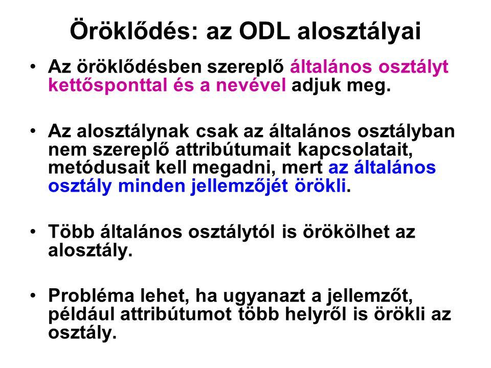Öröklődés: az ODL alosztályai