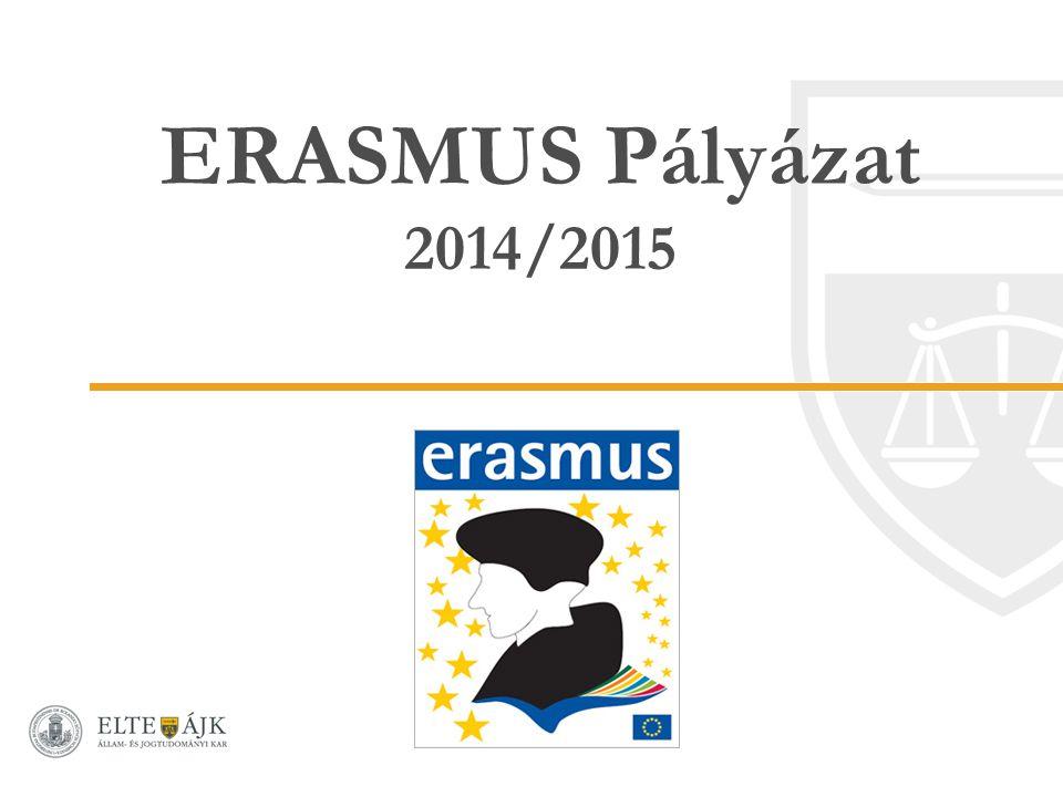 ERASMUS Pályázat 2014/2015