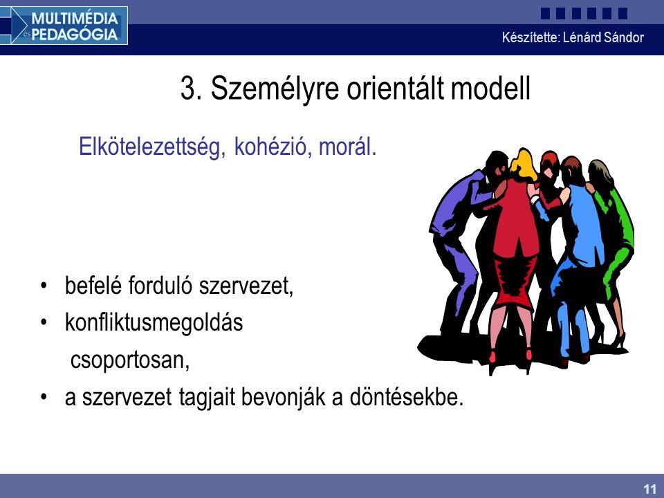 3. Személyre orientált modell